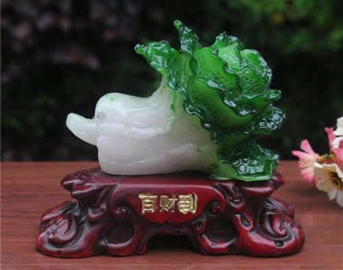玉白菜的摆放方法